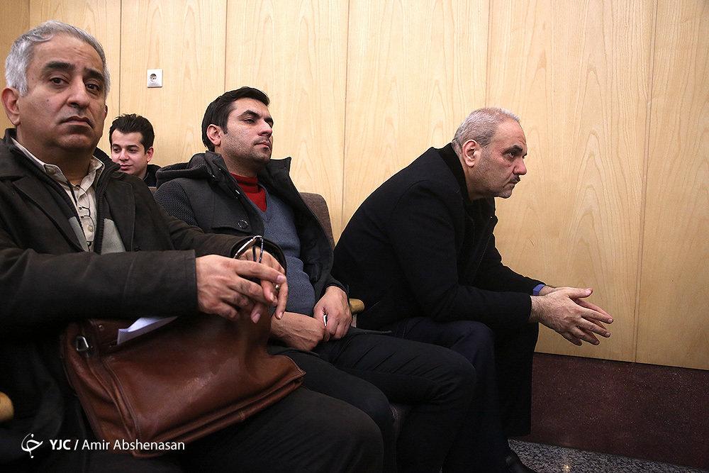 تصاویر   حمید فرخنژاد و جواد خیابانی در مراسم ختم خشایار الوند
