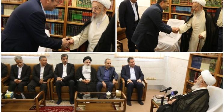 دیدار وزیر صمت با آیتالله مکارم شیرازی، نوری همدانی و صافی گلپایگانی+عکس