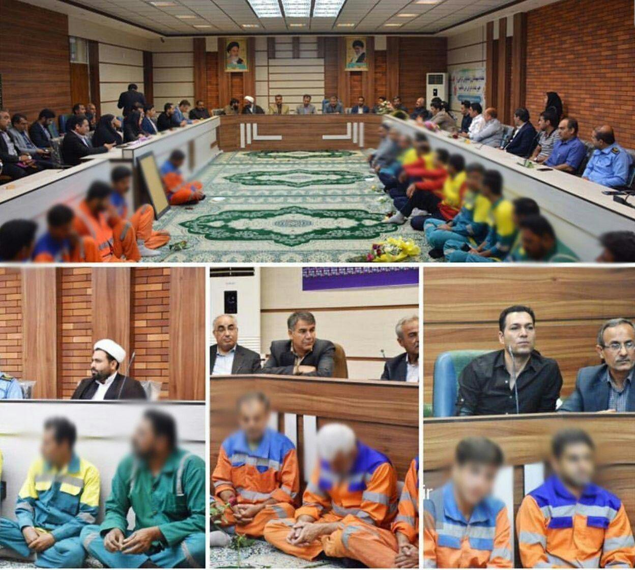عکس| حرکت زننده و تحقیرآمیز شهرداری برازجان با