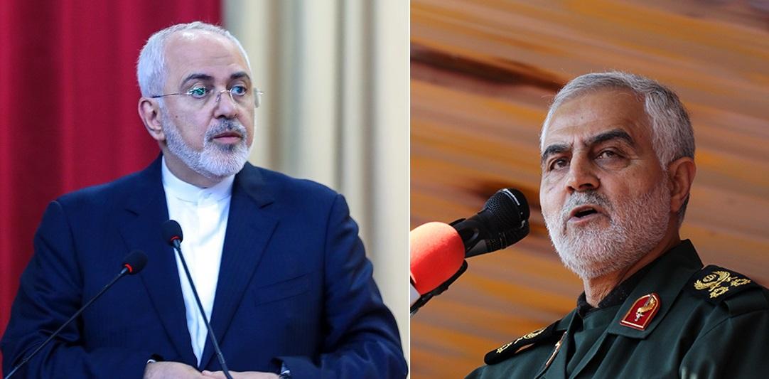 واکنش سردار سلیمانی به استعفای وزیر امورخارجه: ظریف مورد حمایت و تایید مقامات عالی نظام بوده و هست  هیچگونه تعمدی برای عدم حضور ظریف در ملاقات با بشار اسد نبوده است
