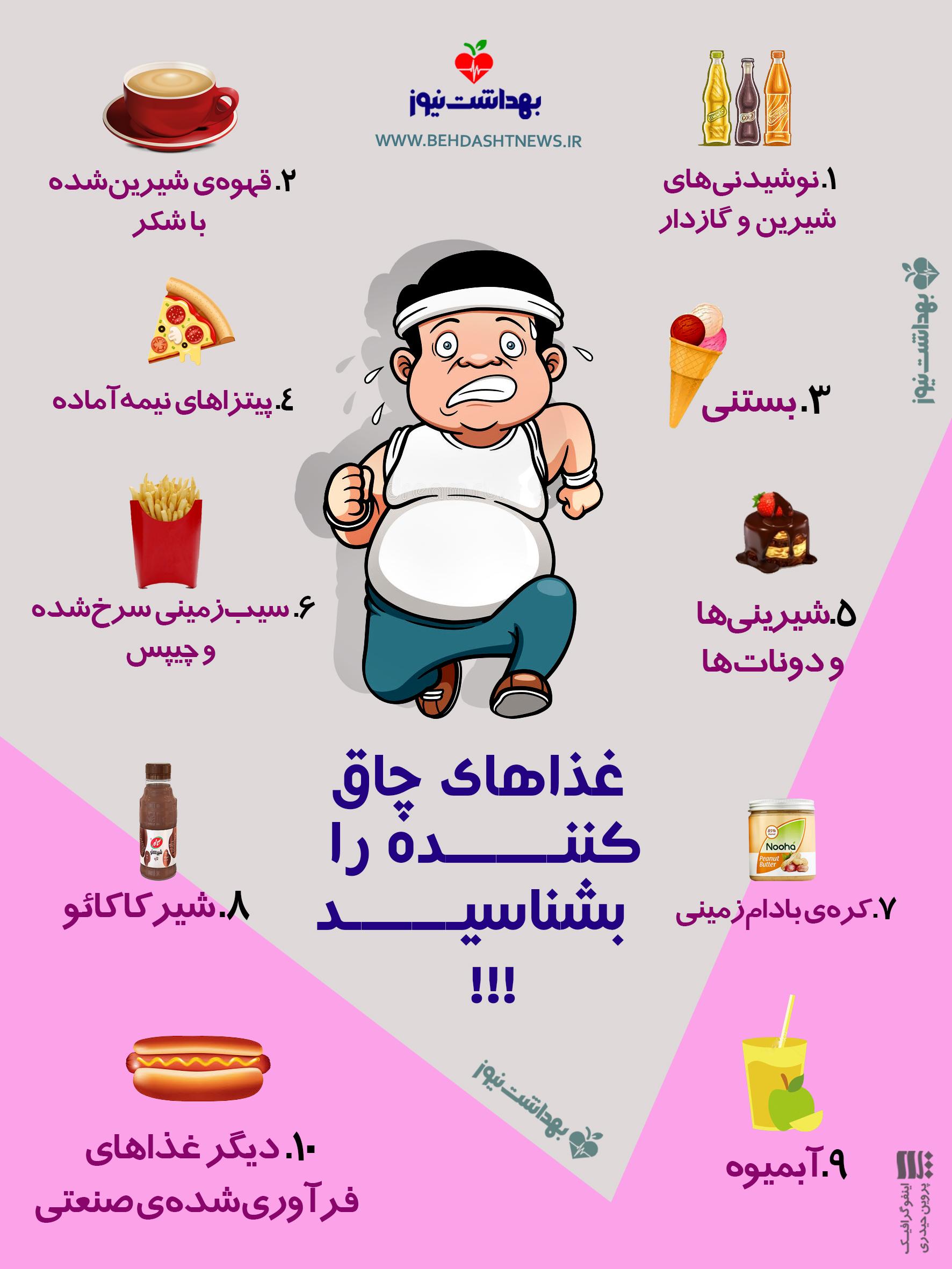 کدام غذاها چاق کننده هستند