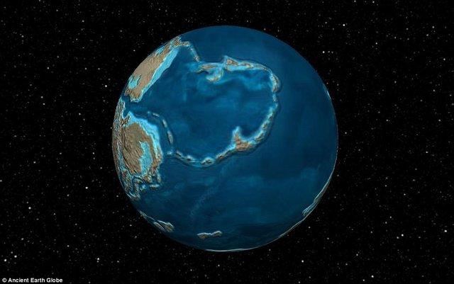 نقشه زمین در 600 میلیون سال گذشته