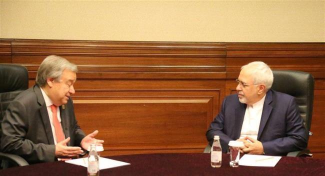 نامه ظریف به دبیرکل سازمان ملل درباره توافق هستهای؛ انتقاد شدید از اقدام آمریکا و شرط تداوم برجام