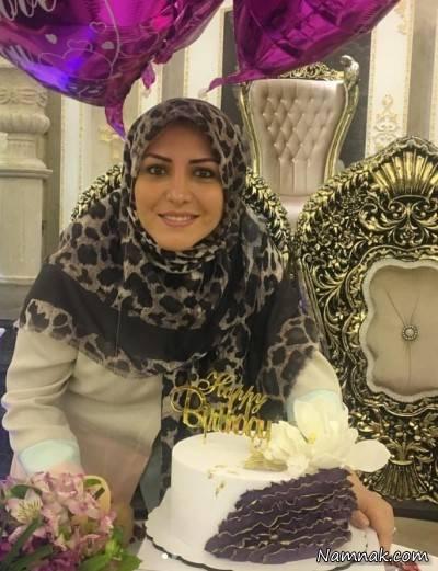 جشن تولد خانم مجری در کنار خانواده اش/ عکس
