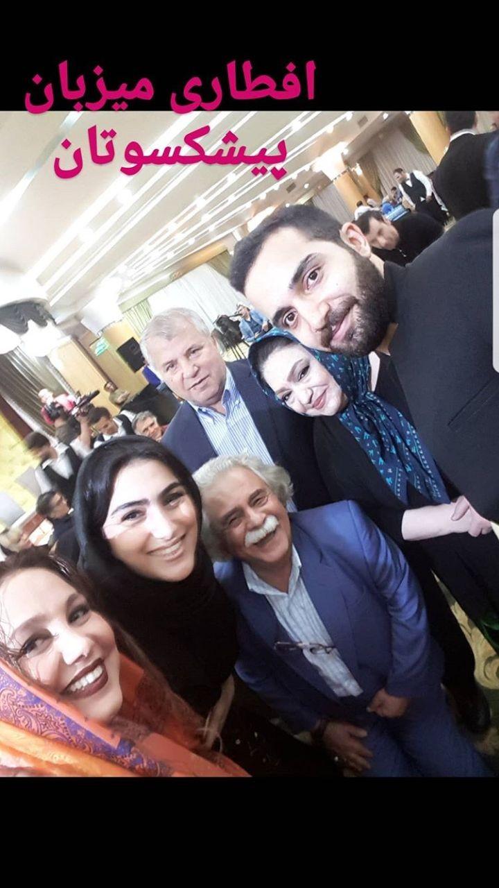 علی پروین؛ مهمان ویژه افطاری خانم بازیگر/عکس