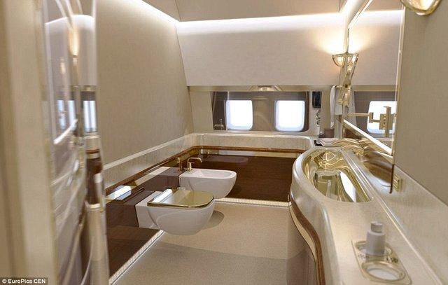 توالت طلایی، تختخواب سایز کینگ و حتی یک باشگاه، جزو تصاویر خیره کنندهای است که از داخل جت اختصاصی لوکس ولادیمیر پوتین منتشر شده است.