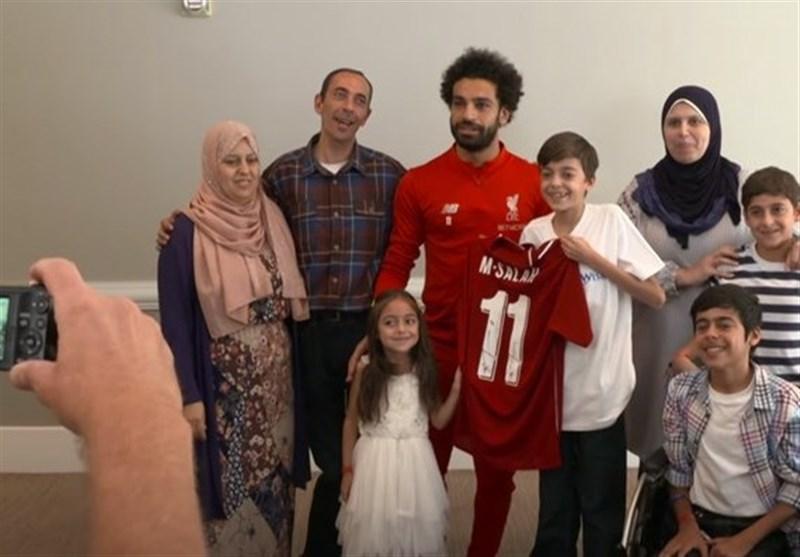 سورپرایز محمد صلاح برای نوجوان بیمار سوری! + عکس