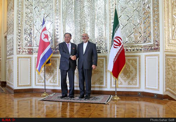 وزیر خارجه کره شمالی با ظریف دیدار کرد+عکس