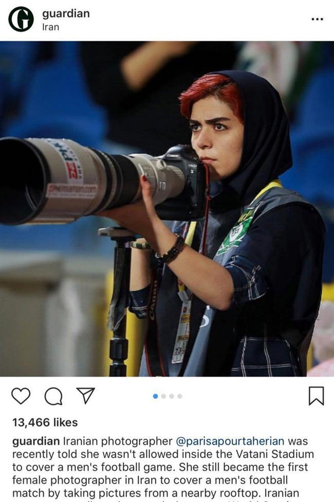 حضور یک زن در استادیوم وطنی مازندران سوژه گاردین شد + عکس