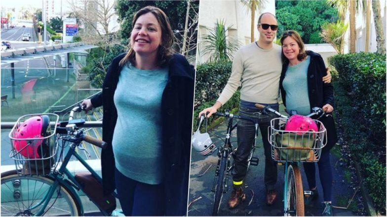 خانم وزیر با دوچرخه به بیمارستان محل زایمان خود رفت/عکس