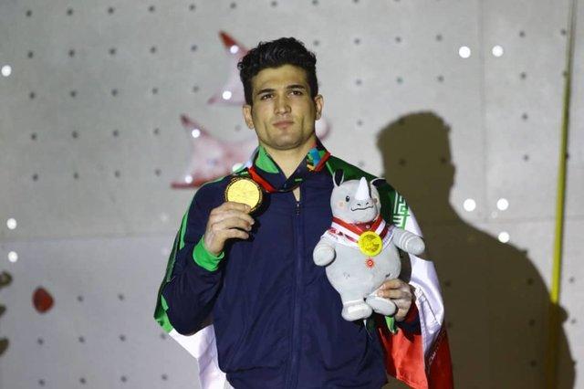 طلای سنگنوردی بازیهای آسیایی بر گردن علیپور