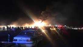 تصادف اتوبوس و تانکر در محور کاشان- نطنز/ ۲۱ کشته + اسامی مصدومان