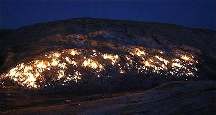 کوه آتشین ایران که هیچ وقت خاموش نمیشود + تصاویر