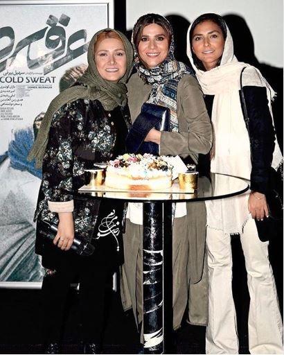 عکس | جشن تولد سحر دولتشاهی در مراسم اکران مردمی فیلمش کنار باران کوثری