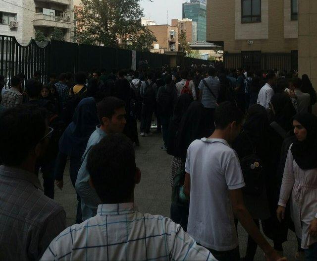 تجمع اعتراضی دانشجویان دانشگاه امیرکبیر+تصاویر