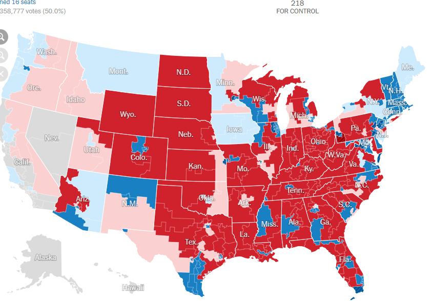 دموکراتها کنترل مجلس نمایندگان را به دست گرفتند  سنا برای جمهوریخواهان میماند  پیروزی بزرگ برای زنان