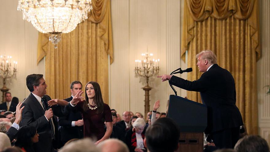 مجادله ترامپ با خبرنگار سیانان: تو بیادب و گستاخی+عکس