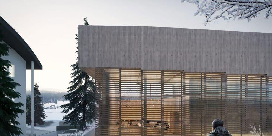 روی سقف این هتل اسکی کنید!