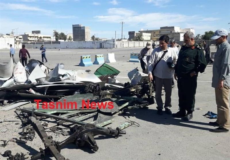 لاشه خودروی عامل انتحاری حمله تروریستی چابهار+عکس