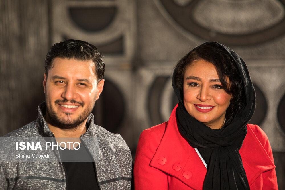 عکس   جواد عزتی و همسرش در یک جشن سینمایی
