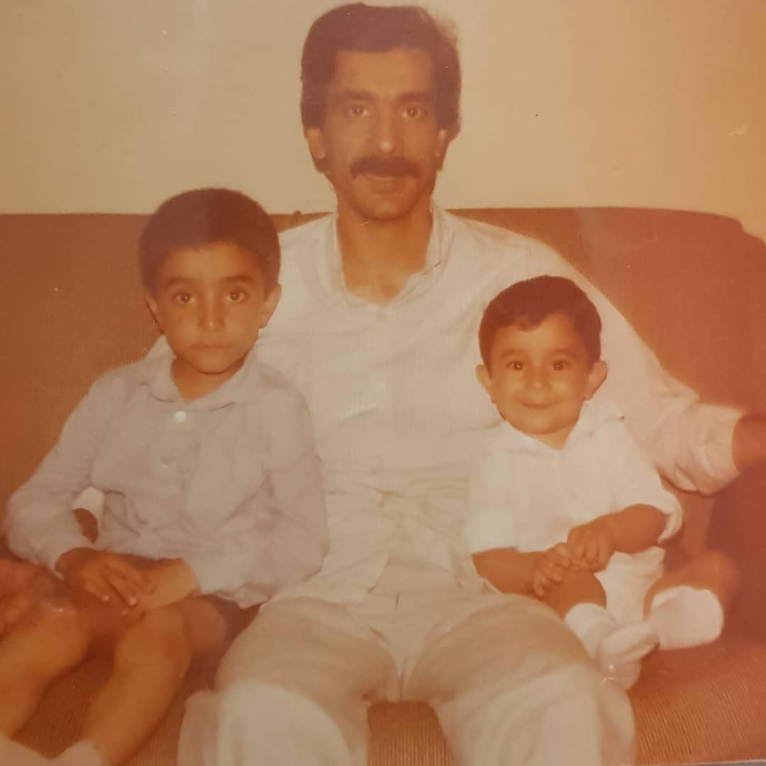 عکس زیرخاکی مجری تلویزیون کنار پدرش