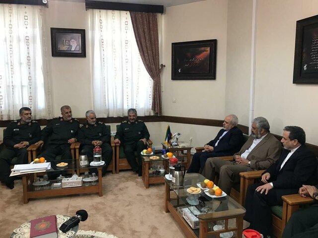 دیدار وزیر خارجه با فرمانده سپاه پاسداران