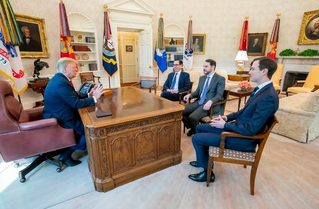 دیدار داماد اردوغان با ترامپ در کاخ سفید +عکس