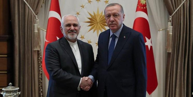 دیدار ظریف با اردوغان +عکس