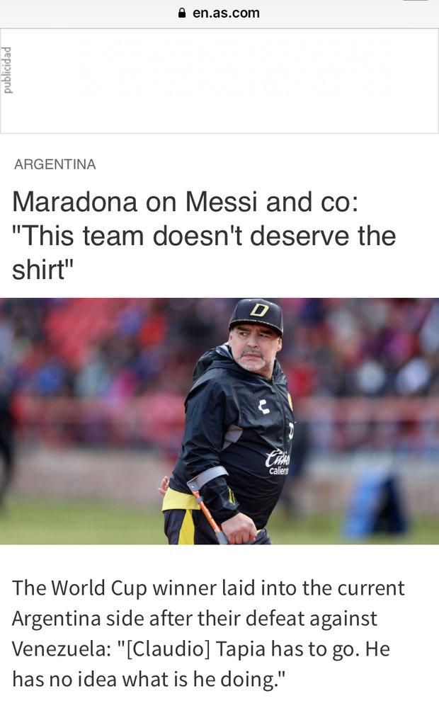 وقتی مارادونا به لیونل مسی هم رحم نکرد!