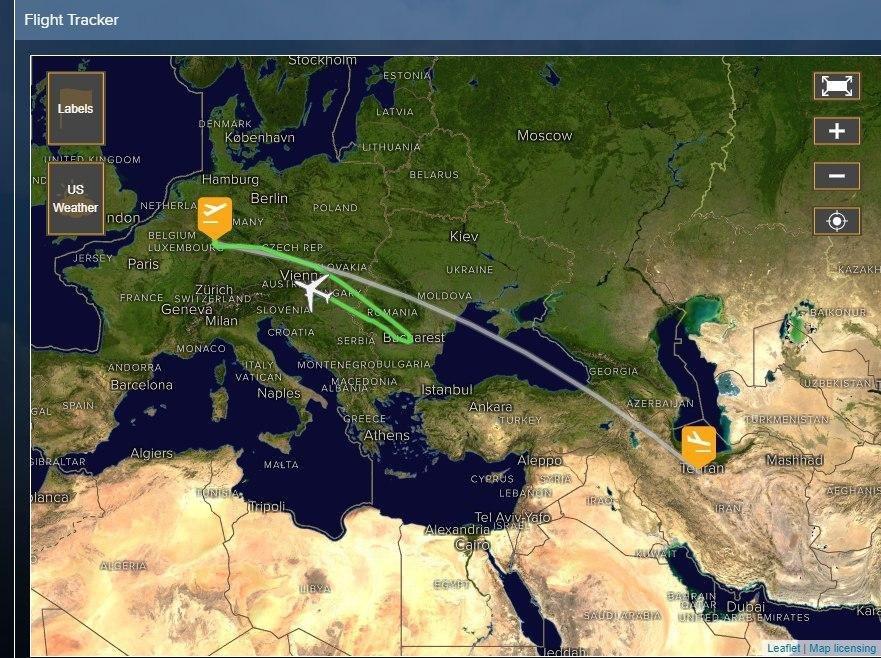 عکس| پرواز فرانکفورت به تهران به مبدا بازگشت
