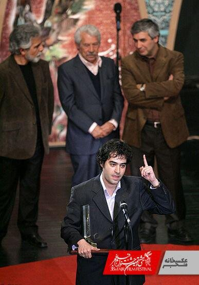 عکس/ چهره شهاب حسینی ۱۱ سال پیش پس از بردن سیمرغ بلورین