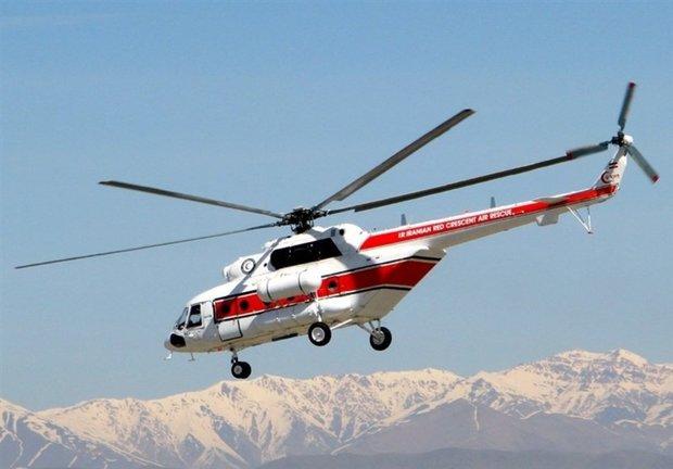 نجات یک زن ۲۸ ساله توسط بالگرد در چهارمحال وبختیاری