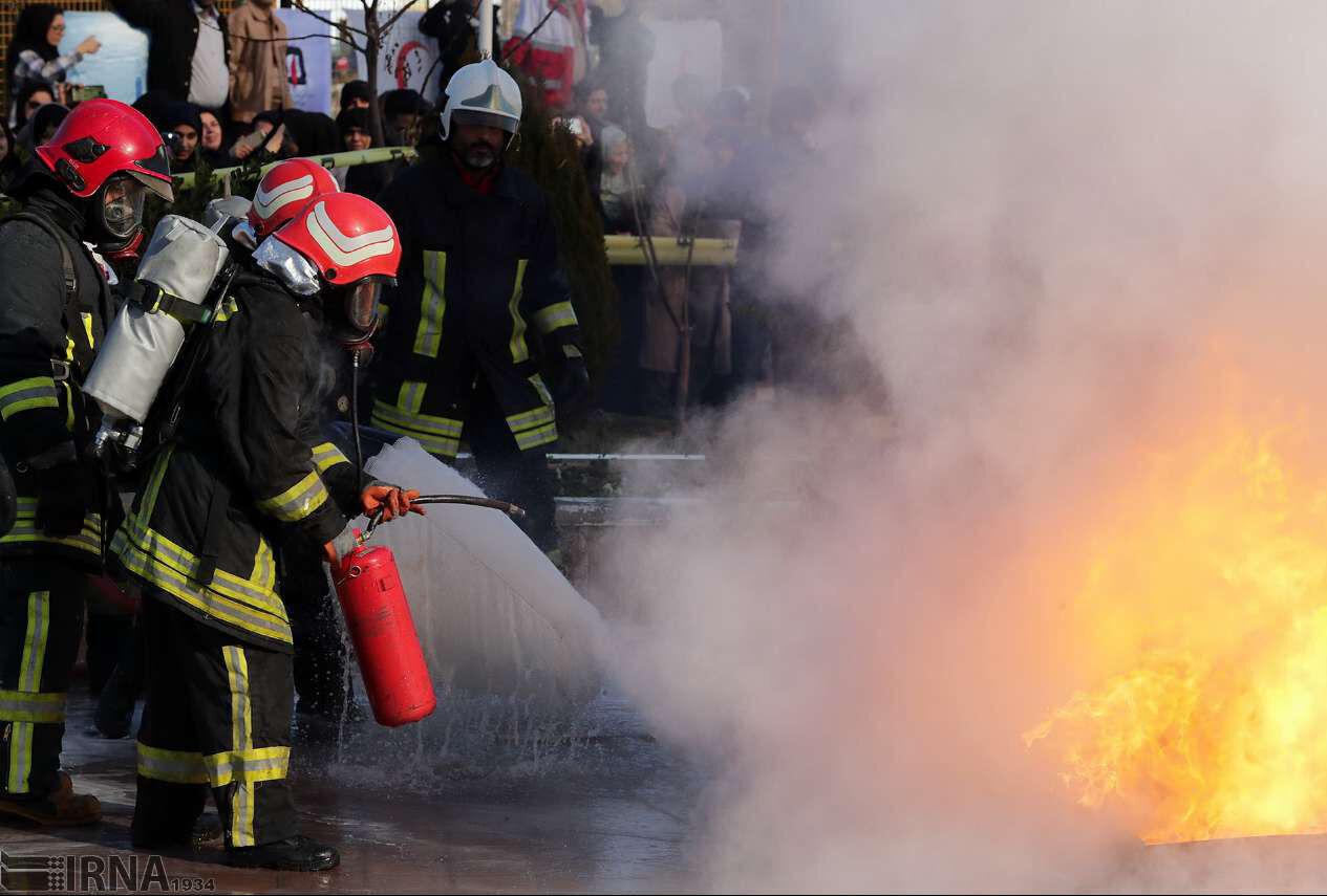 آتشسوزی در برج آزادی تهران