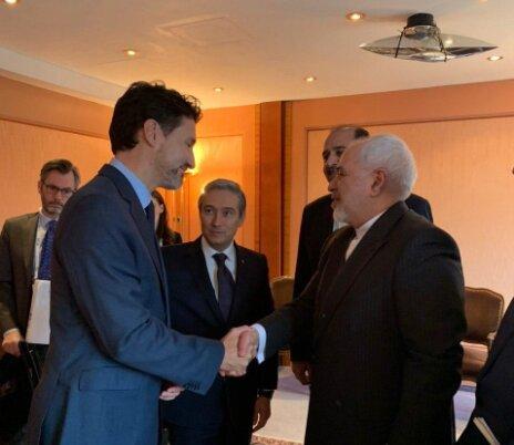 دیدار ظریف با نخستوزیر و وزیر خارجه کانادا در مونیخ
