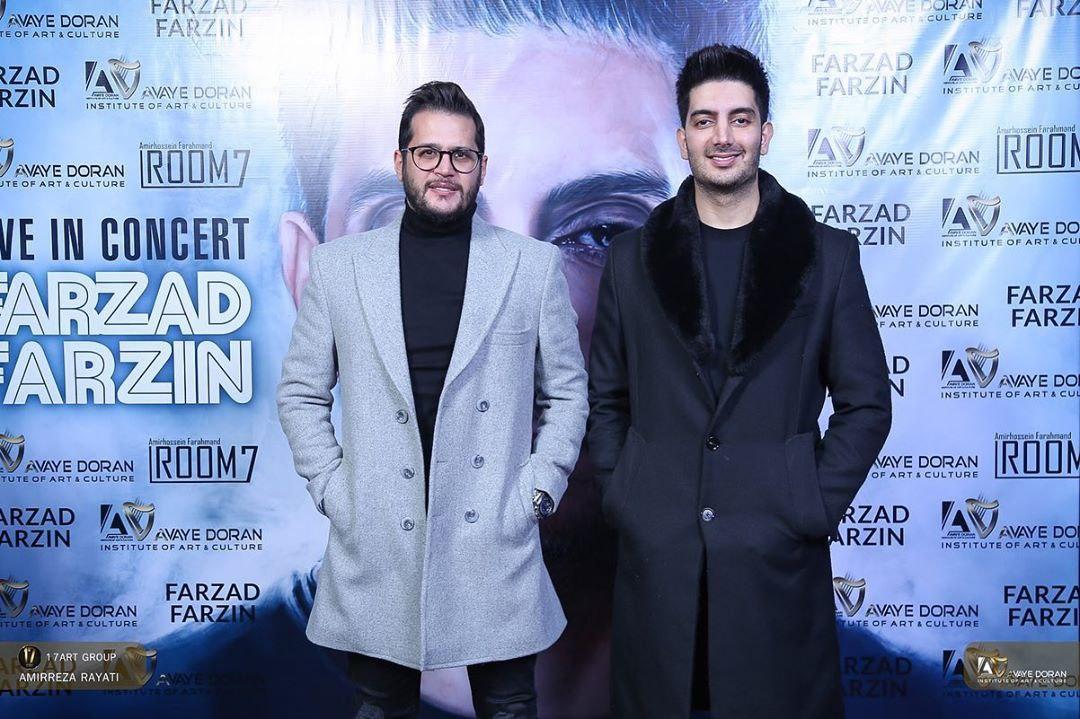 بازیگران «مانکن» در کنسرت فرزاد فرزین+عکس
