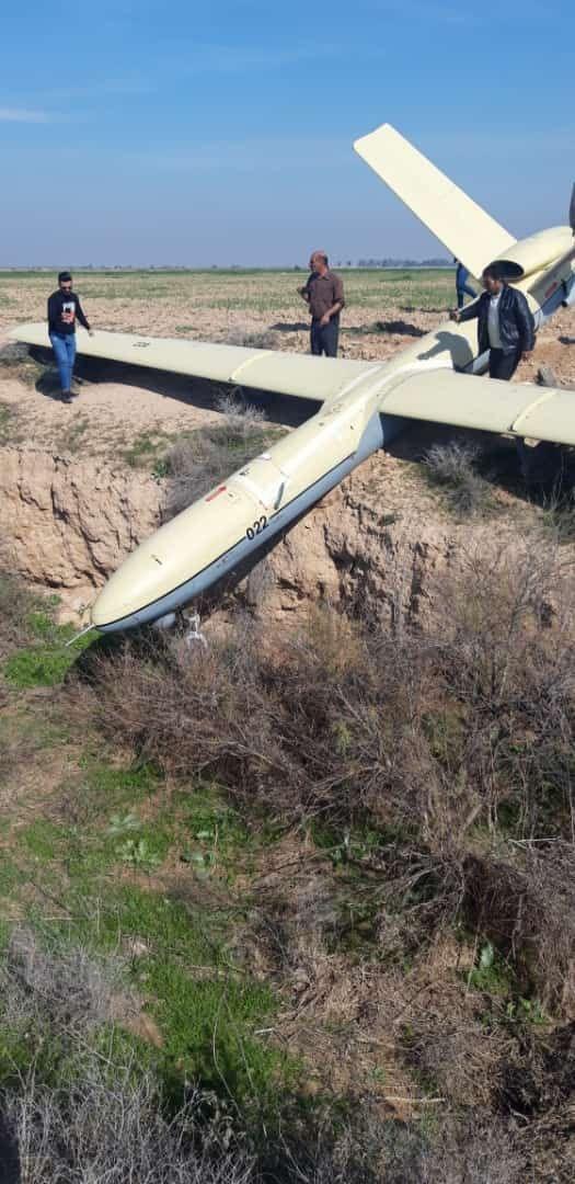 سقوط یک فروند پهباد در اطراف اهواز +عکس