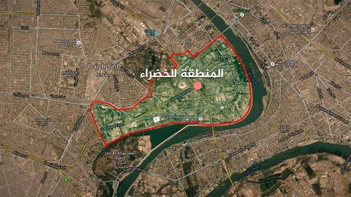 اصابت دو موشک کاتیوشا به منطقه سبز بغداد