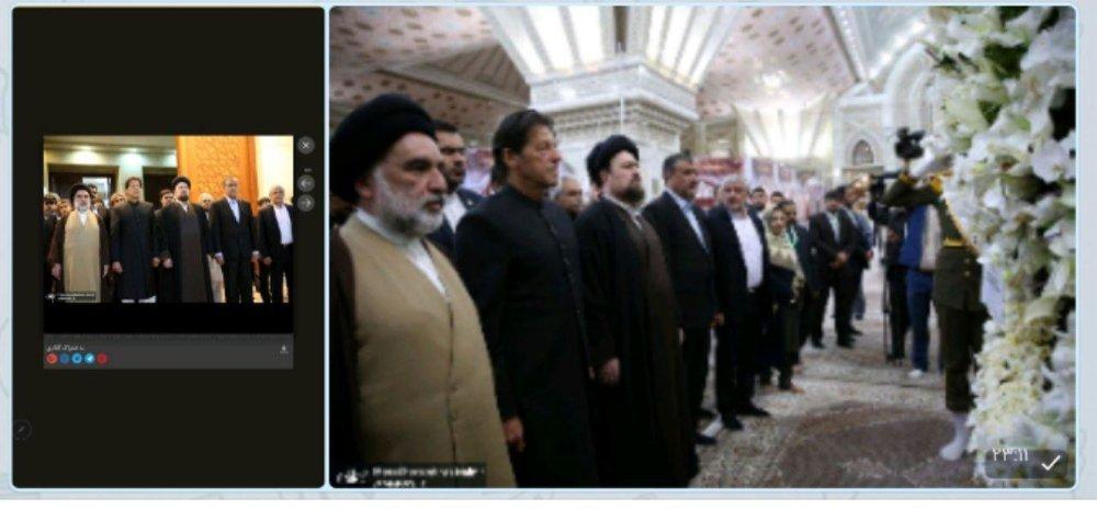 حضور نخستوزیر پاکستان در حرم امام خمینی+عکس