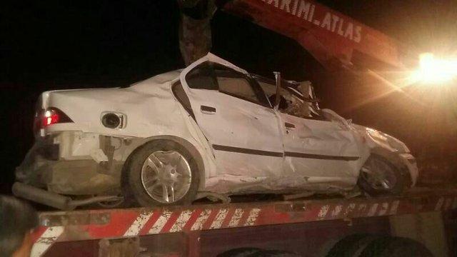 واژگونی سمند در جاده کردکوی - گرگان 2 کشته داشت