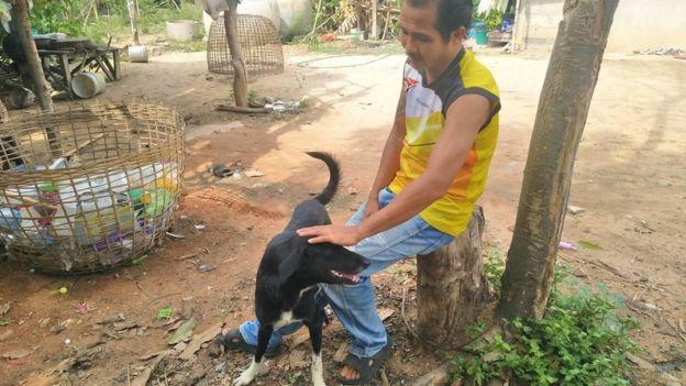 سگی در تایلند نوزاد زنده به گور شده توسط مادرش را نجات داد+عکس