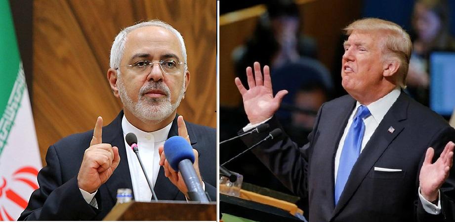 ظریف در پاسخ ترامپ: هرگز یک ایرانی را تهدید نکن؛ احترام را آزمایش کن، جواب میدهد