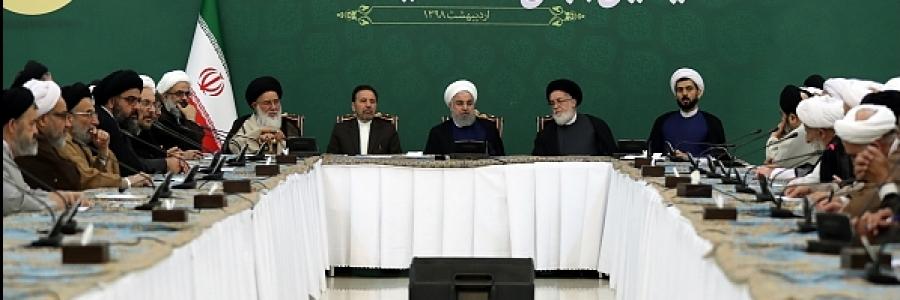رئیسجمهور: روحانیت دردفاع از منافع ملی و جهان اسلام، نقشی پیشتاز دارد/ تلاش دولت رسیدگی بیشتر به قشر آسیب پذیر جامعه است