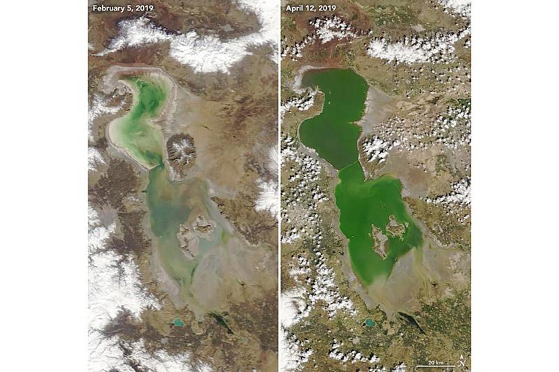 ناسا: دریاچه ارومیه دوباره جان گرفت+عکس