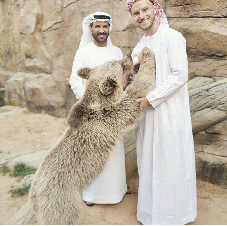 استایل عربی ستاره بارسلونا در دبی/عکس