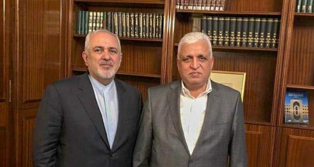 دیدار ظریف با رئیس الحشد الشعبی+عکس