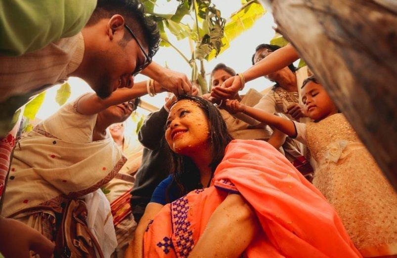 عکس/ عروسی سنتی یک زوج هندی در عکس روز نشنال جئوگرافیک
