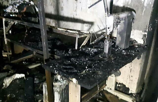 آتشسوزی کارگاه تولید کفش در خیابان سپهسالار تهران+عکس