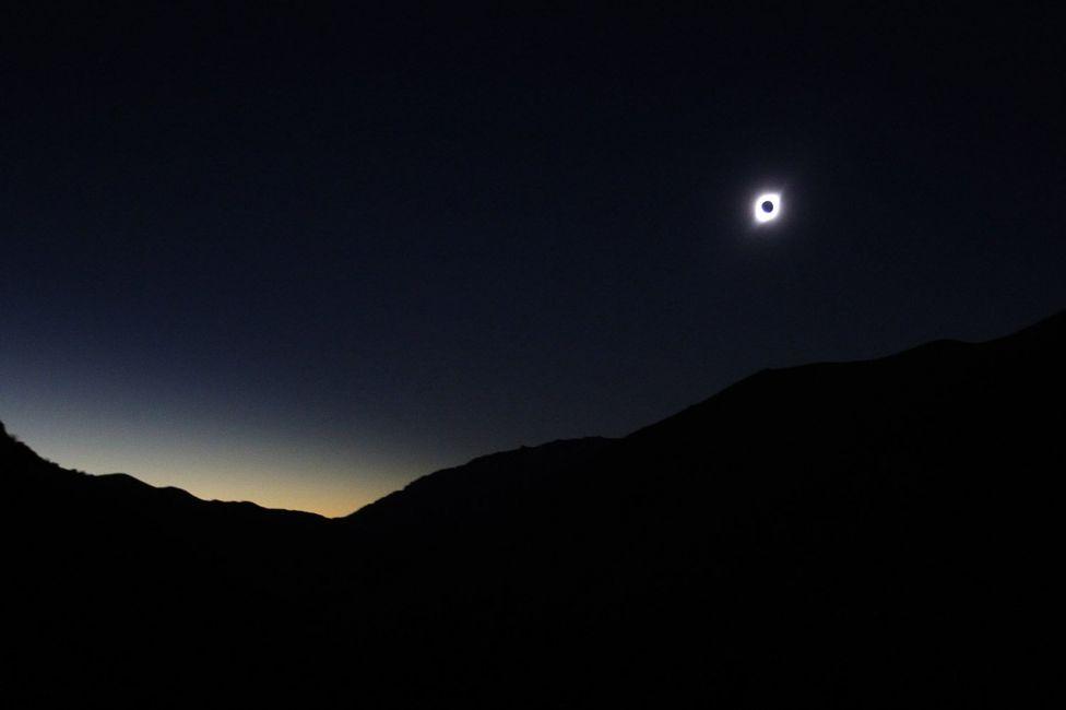 عکس| خورشیدگرفتگی در شیلی