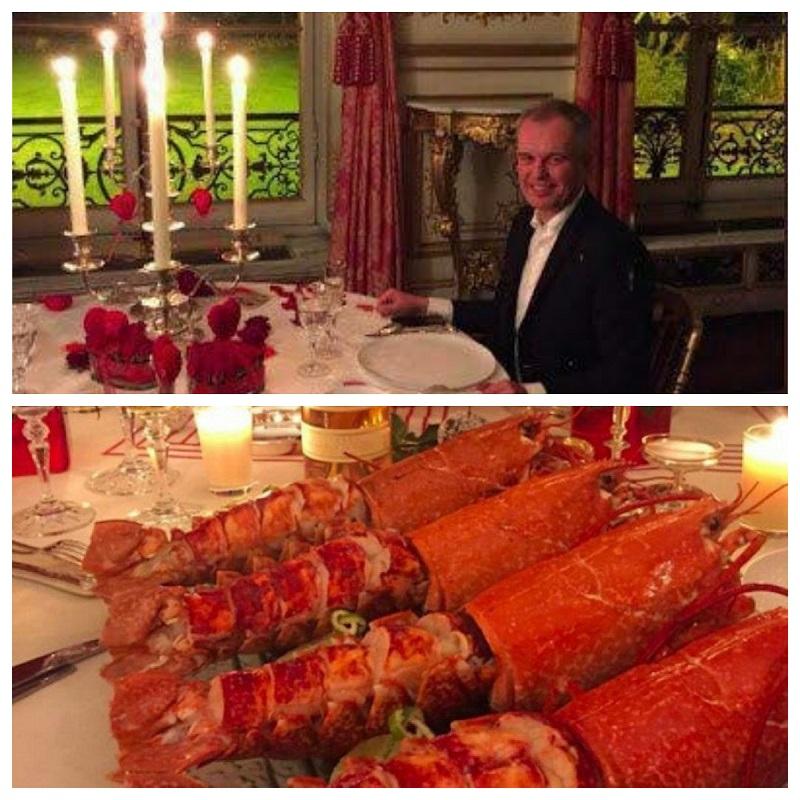 وزیر فرانسوی در آستانه استعفا به خاطر خوردن یک شام+عکس