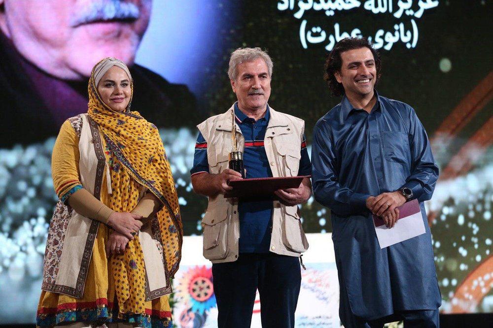 چرا امین زندگانی با لباس بلوچی در جشن حافظ حاضر شد؟+ عکس